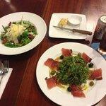 Rucola salad and Parma ham plate