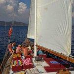 12 islands sailing Göcek on beautiful gulet Günay 1
