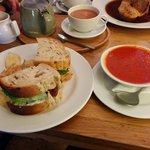 Fresh soup & a sandwich