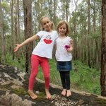 The girls in the forest