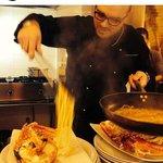 ecco lo chef all'opera!