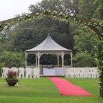 garden gazebo for wedding ceremony
