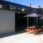 The back beer garden area