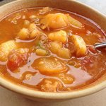 Conch chowder - tidbits of conch, mostly potato, not so hot (though chowder should be)