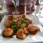 Scallops with sweet chilli sauce