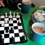 playing chess :D