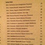 Auch sehr gute Auswahl an italienischen Weinen