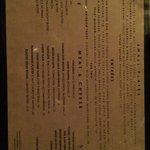 Bull & Beggar menu