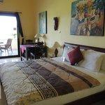 huge double bed