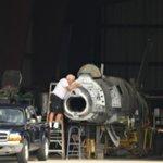Volunteer Working on a Super Sabre F100