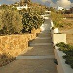 Stairs up to Villa Paradise villas