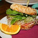 Salmon-Bagel