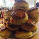 Freshly made scones