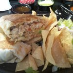 Overstuffed Grilled Fish Burrito