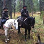 Elk ride in the rain...beautiful day