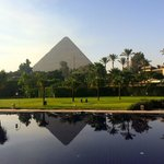 Giza Pyramids from Mena House Reflection Pool