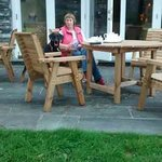 Afternoon tea outside (with dog)