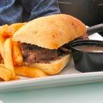 Prime Rib Sandwich at Corks in Niagara-on-the-Lake, Ontario