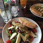 Yummy salads despite our unfriendly waitress...