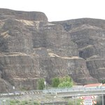 Cliffs along Columbia River.