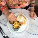 Friend with Croque Madame