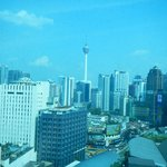 View from our hotel window of the KL Tower