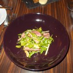 Starter - smoked duck in an apple and walnut salad