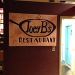 Joey B's - Hallway sign