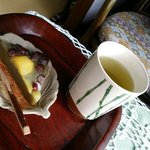 Welcome tea and snack