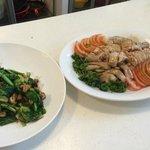 Sambal Kang Kong & Hainanese Chicken