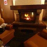 la cheminée bien agréable lors de l'hiver austral à la Réunion