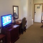 TV and desk
