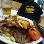 The mixed grill from the Goolgowi Pub