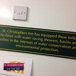 An understatement at St Christopher's Bath!