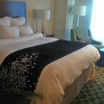 Comfortable King bed at the Marriott