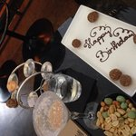 Our cocktails and surprise truffles
