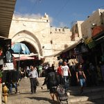 Entrance to the Old City via the Damascus Gate.