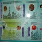 menu of billy boy restaurant of the same hotel