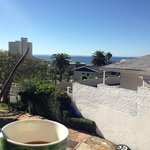 Coffee with the view from a room