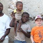 My Son with some Village children