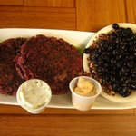 Red Beet Burgers with Black Bean Quinoa