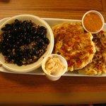Crab Cakes with Black Bean Quinoa