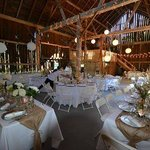 Upper Barn set for Dinner