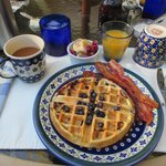 Breakfast - Blueberry Waffles