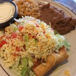 Chimichanga lunch