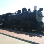 steam engine train out front