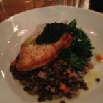 Halibut served with lentils special