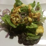 Halloumi and red onion salad