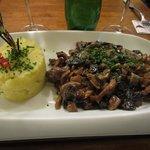 Deer, 4 types of mushroom and potato