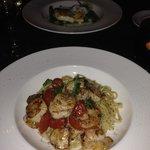 Scallops and shrimp in Linguine